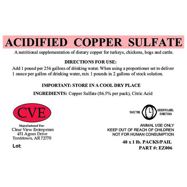 Acidified Copper Sulfate